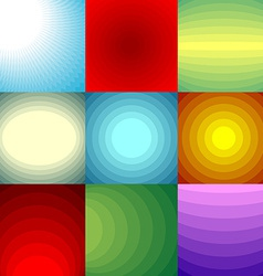 Color blend backgrounds set vector