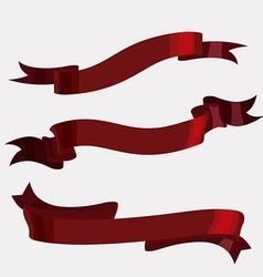 Decorative ribbon design vector image vector image