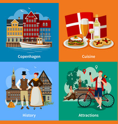 denmark flat style concept vector image