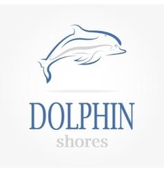 Dolphin logotype dolphin shores vector