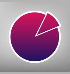Finance graph sign purple gradient icon vector