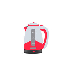 flat electric kettle or teapot icon vector image vector image