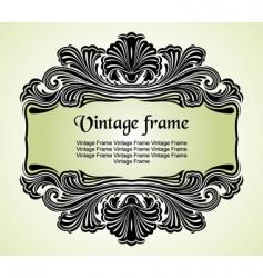 floral vintage frame vector image