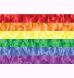 Gay and Lesbian rainbow flag in poly art vector image vector image