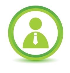 Green man icon vector image