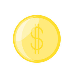 Isolated coin money vector