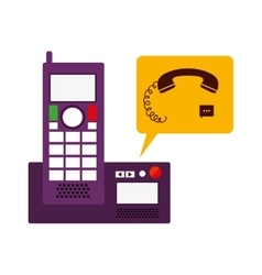 Isolated phone device design vector image vector image