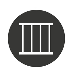 Jail gate isolated icon vector
