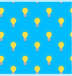 Lamp bulb idea seamless pattern vector
