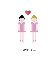 Lesbian couple in love vector image