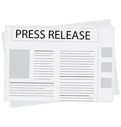 New press release vector