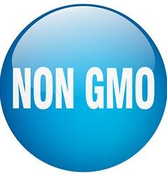Non gmo blue round gel isolated push button vector