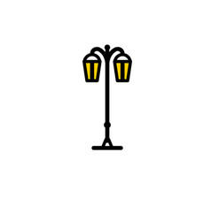 outline streetlight icon isolated parks design vector image vector image