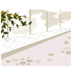 Park Stone Path vector image vector image