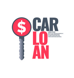 poster an car loan vector image