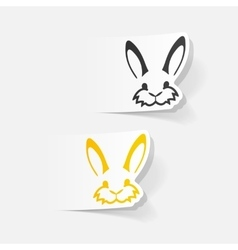 Realistic design element easter rabbit vector