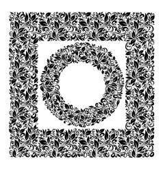Set of patterns and framework leaves vector