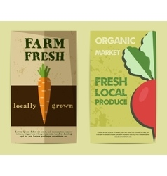 Set of Stylish Farm Fresh flyer template or vector image