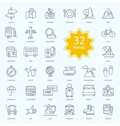 Set of Travel Icon Linear Design vector image vector image