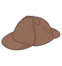 Sherlock holmes hat vector