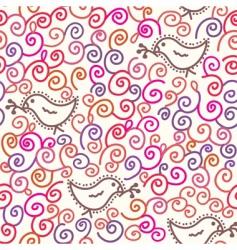 spiral birds vector image vector image