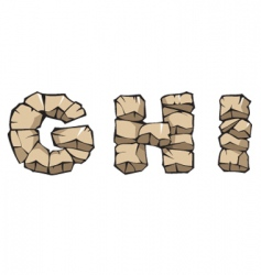 stone Alphabet ghi vector image