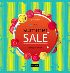 Summer discounts banner vector