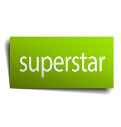 Superstar square paper sign isolated on white vector