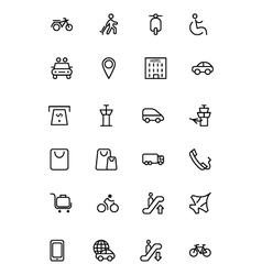 Travel Line Icons 4 vector image