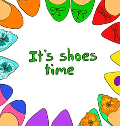 with ballet flats shoes vector image