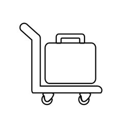 Suitcase baggage luggage travel icon vector