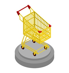 Shopping cart gold award for best buyer precious vector