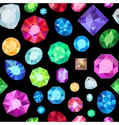 Gem seamless pattern vector