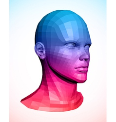 Human head abstract vector