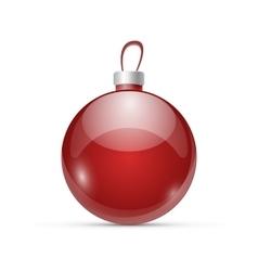 Christmas red ball vector image