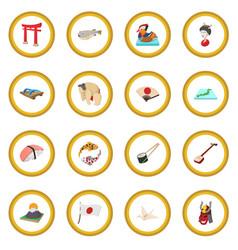 Japan icon circle vector