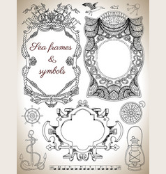 sea frames and borders vector image