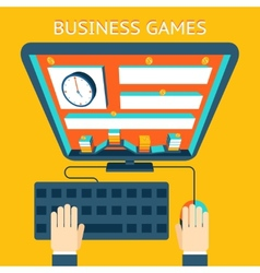 Business gamification making money as a game vector