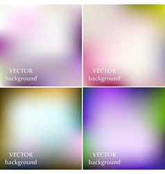 Abstract colorful blurred smooth spring background vector