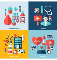 Medical concept with infographic elements vector
