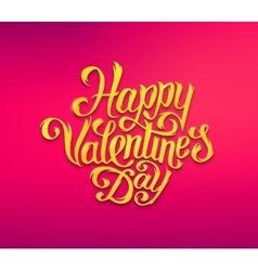 Happy valentines day text typography greetings vector