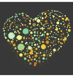 Splatter heart vector