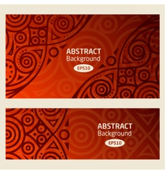 Abstract background african pattern vector image