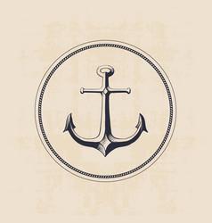 anchor logo vector image vector image