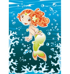 Baby mermaid vector