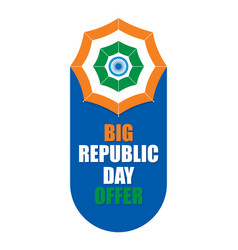 Big indian republic day offer vector
