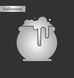 black and white style icon halloween witches vector image