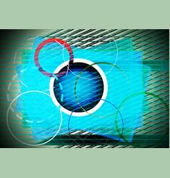 blue and cyan circles vector image