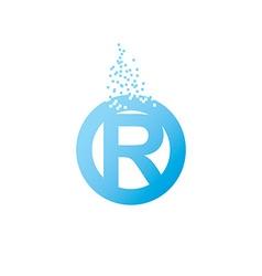 Circle initial letter uppercase logo design vector image