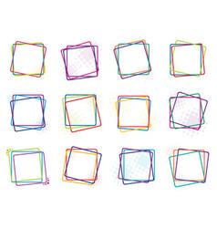 color frames vector image